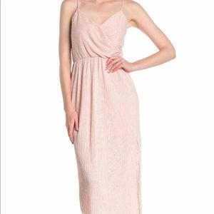 NWT Lush Pleated Dress - Blush - Medium